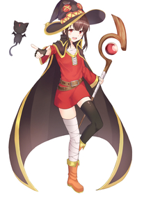 Rating: Safe Score: 0 Tags: 1girl absurdres bandaged_leg bandages belt black_cape black_gloves black_legwear blush boots brown_footwear brown_hair cape cat chomusuke dress eyebrows_visible_through_hair fingerless_gloves flat_chest flying gloves hair_between_eyes hat highres holding holding_staff kono_subarashii_sekai_ni_shukufuku_wo! looking_at_viewer megumin no_ho open_mouth red_dress red_eyes short_dress short_hair simple_background single_thighhigh staff thighhighs upper_teeth white_background wings witch_hat User: DMSchmidt