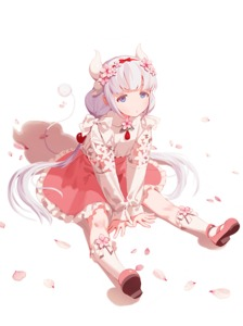Rating: Safe Score: 0 Tags: 1girl between_legs blue_eyes dragon_horns dragon_tail dress expressionless fajyobore323 flower frilled_dress frills full_body hair hair_bobbles hair_flower hair_ornament hairband hand_between_legs horns kanna_kamui kobayashi-san_chi_no_maidragon long_hair long_sleeves looking_at_viewer petals pink_footwear shadow shoes silver_hair simple_background sitting socks solo tail twin_tails white_background User: Domestic_Importer