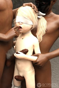 Rating: Explicit Score: 23 Tags: 1girl 2boys 3dcg age_difference blindfold blonde_hair brown_skin dark_skinned_male flat_chest from_behind frottage gangbang gromwoid_(artist) group_sex hair_ribbon hand_on_another's_head long_hair multiple_boys navel necklace nipples nude penis photorealistic pubic_hair pussy ribbon standing testicles twin_tails User: fantasy-lover