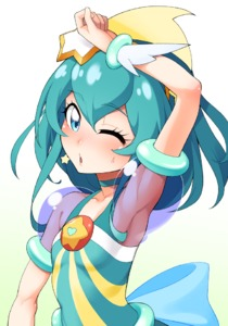 Rating: Safe Score: 0 Tags: 1girl ;o arm_up armpits blue_eyes blue_hair bow bracelet collarbone cure_milky earrings flat_chest hagoromo_lala hayashi_keita jewellery magical_girl medium_hair one_eye_closed precure see-through simple_background solo star_twinkle_precure sweat upper_body User: DMSchmidt