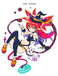 Rating: Safe Score: 0 Tags: 1girl alternate_costume alternate_hairstyle asymmetrical_gloves bracelet chain demon_girl demon_tail demon_wings disgaea earrings etna flat_chest gloves halloween hat hekaton highres jewellery long_hair moon_(ornament) pointy_ears red_eyes red_hair smile stuffed_toy tail thighhighs wings witch_hat User: DMSchmidt