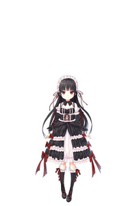 Rating: Safe Score: 2 Tags: 1girl absurdres bangs bare_shoulders black_bow black_dress black_footwear black_hair black_sleeves blush bow closed_mouth collarbone cura detached_sleeves dress eyebrows_visible_through_hair frilled_dress frills gothic_lolita grey_legwear hachiroku_(maitetsu) highres kneehighs lolita_fashion long_hair long_sleeves maitetsu negative_space pigeon-toed red_bow red_eyes shoes simple_background sleeveless sleeveless_dress smile solo standing striped striped_bow striped_legwear vertical-striped_legwear vertical_stripes very_long_hair white_background User: DMSchmidt