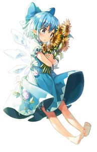 Rating: Safe Score: 1 Tags: 1girl barefoot blue_bow blue_dress blue_eyes blue_hair blush bow cirno dress eyebrows_visible_through_hair flower full_body hair_bow holding holding_flower ice ice_wings parted_lips pointy_ears revision shinoba short_hair simple_background solo sunflower touhou_project white_background wings User: DMSchmidt