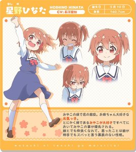 Rating: Safe Score: 0 Tags: 1girl blue_dress blue_scrunchie blush bow bowtie brown_footwear character_name character_profile character_sheet closed_eyes copyright_name dress expression_chart eyebrows_visible_through_hair floral_background grin hair_between_eyes hair_ornament hair_scrunchie hands_up hoshino_hinata kneehighs loafers looking_at_viewer multiple_views nakagawa_hiromi official_art one_side_up open_mouth orange_background orange_hair pinafore_dress pout red_eyes red_neckwear sailor_collar school_uniform scrunchie shiny shiny_footwear shiny_hair shirt shoes smile tongue translation_request walking watashi_ni_tenshi_ga_maiorita! white_legwear white_sailor_collar white_shirt User: Domestic_Importer