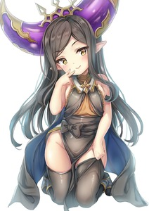 Rating: Questionable Score: 5 Tags: 1girl :> absurdres adjusting_clothes adjusting_legwear areolae arulumaya bare_shoulders black_legwear blush breasts brown_hair closed_mouth dress ecou full_body granblue_fantasy groin harvin head_tilt highres kneeling long_hair looking_at_viewer pointy_ears small_breasts solo thighhighs upscaled v-shaped_eyebrows very_long_hair waifu2x white_background yellow_eyes User: DMSchmidt