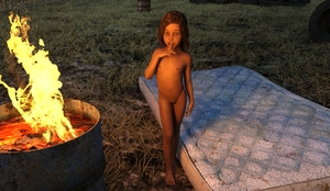 Rating: Explicit Score: 19 Tags: 1girl 3dcg barefoot brown_eyes brown_hair brown_skin finger_to_mouth fire flat_chest looking_at_viewer lynx mattress navel nipples nude outdoors photorealistic pose pussy shadow standing User: fantasy-lover