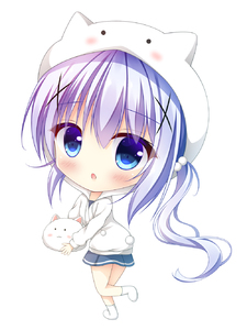 Rating: Safe Score: 0 Tags: 1girl :o angora_rabbit animal bangs blue_eyes blue_hair blue_skirt blush bunny character_hood chibi eyebrows_visible_through_hair full_body gochuumon_wa_usagi_desu_ka? hair_between_eyes highres holding holding_animal hood hood_up hoodie kafuu_chino long_hair long_sleeves looking_at_viewer looking_to_the_side no_shoes parted_lips pleated_skirt pom_pom_(clothes) side_ponytail simple_background skirt socks standing standing_on_one_leg tippy very_long_hair white_background white_hoodie white_legwear yukatama User: DMSchmidt