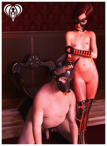 Rating: Explicit Score: 6 Tags: 1boy 1girl 3dcg age_difference all_fours arm_gloves boots brown_hair chair collar dog_costume erection femdom flat_chest freckles kneeling lace_legwear latex latex_legwear legwear lil-heart looking_at_partner mask nipples nude penis photorealistic pussy short_hair spread_legs standing thigh_boots thighhighs uncensored User: Software