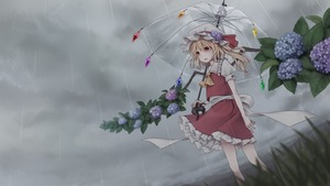 Rating: Safe Score: 0 Tags: 1girl alternate_wings ascot blonde_hair blue_flower cloud cloudy_sky crystal dtvisu dutch_angle eyebrows_visible_through_hair flandre_scarlet flower frilled_shirt_collar frills grass grey_sky hair_between_eyes hat hat_ribbon highres holding holding_umbrella hydrangea mob_cap one_side_up parted_lips petticoat puffy_short_sleeves puffy_sleeves purple_flower rain red_eyes red_ribbon red_skirt red_vest ribbon short_hair short_sleeves skirt sky solo standing touhou_project transparent_umbrella umbrella vest white_hat wings yellow_neckwear User: DMSchmidt