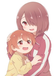 Rating: Safe Score: 3 Tags: 2girls brown_hair cheek_squash fang hair_over_one_eye hatafuta hoshino_hinata hoshino_miyako_(wataten) hug jacket multiple_girls orange_eyes orange_hair pajamas petting red_eyes short_hair siblings sisters track_jacket track_suit watashi_ni_tenshi_ga_maiorita! white_background User: Domestic_Importer