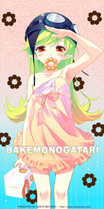 Rating: Safe Score: 0 Tags: 1girl armpits bad_id bakemonogatari blonde_hair blush bow box doughnut dress food goggles gradient_hair green_hair helmet holding long_hair mister_donut monogatari_(series) mouth_hold multicoloured_hair no_bra oshino_shinobu pointy_ears red_eyes salute santa_matsuri solo strap_slip User: DMSchmidt