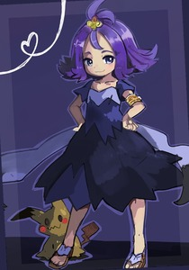 Rating: Safe Score: 2 Tags: 1girl :3 acerola_(pokemon) animal_ears antenna_hair armlet blush blush_stickers brown_footwear collarbone cu-sith dress elite_four feet flat_chest full_body hair_ornament half-closed_eyes hands_on_hips heart looking_to_the_side mimikyu pokemon pokemon_(creature) pokemon_(game) pokemon_sm purple_dress purple_eyes purple_hair sandals short_hair short_sleeves simple_background smile solo_focus standing tail trial_captain User: DMSchmidt