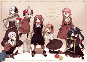 Rating: Safe Score: 1 Tags: 6+girls :d :o ahoge akabane_youko apple armchair bangs birdcage black_dress black_footwear black_legwear blush book book_stack boots bow breasts brown_bow brown_dress brown_footwear brown_hair brown_legwear brown_skirt cage center_frills chair closed_eyes closed_mouth copyright_name curled_horns demon_girl demon_horns demon_wings dress eyebrows_visible_through_hair facing_viewer flower flying food frills fruit gradient_hair green_eyes hair_between_eyes hair_bow hair_flower hair_ornament head_tilt high-waist_skirt high_heel_boots high_heels holding holding_food holding_fruit honma_himawari horns kneeling long_hair looking_at_viewer makaino_ririmu medium_breasts multicoloured_hair multiple_girls nijisanji on_chair one_side_up open_mouth over-kneehighs parted_lips picture_frame pink_hair pleated_skirt purple_eyes purple_hair red_apple red_eyes red_hair red_wings sasaki_saku setsuna_(nijisanji) shiina_yuika shirt silver_hair sitting skirt smile standing sunflower_hair_ornament thighhighs twin_tails two-tone_hair very_long_hair virtual_youtuber white_shirt wings yamabukiiro yamiyono_moruru yellow_flower User: DMSchmidt