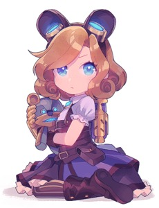 Rating: Safe Score: 4 Tags: 1girl alternate_costume animal_ears annie_hastur bag bangs blonde_hair blue_eyes blush boots curly_hair dress fake_animal_ears full_body gloves hair_ornament hug league_of_legends looking_at_viewer puffy_short_sleeves puffy_sleeves seiza short_hair short_sleeves sitting steampunk striped striped_legwear stuffed_animal stuffed_toy tibbers uso_(ameuzaki) User: Domestic_Importer