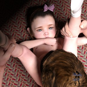 Rating: Explicit Score: 29 Tags: 1boy 1girl 3dcg age_difference bent_over brown_hair cunnilingus grabbing_leg hair_ribbon hetero looking_at_another nude oral photorealistic ribbon slimdog thumb_sucking toddlercon white_legwear User: yobsolo
