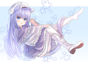 Rating: Safe Score: 1 Tags: 1girl animal_ears blue_eyes boots cat_ears cat_tail claw_pose dress from_side full_body hand_on_own_knee hat hibari_hina highres knee_boots knee_up leaning_back leg_up legs long_hair open_mouth original pantyhose purple_dress purple_hair single_boot sitting solo tail tail_wrap white_footwear white_legwear User: DMSchmidt