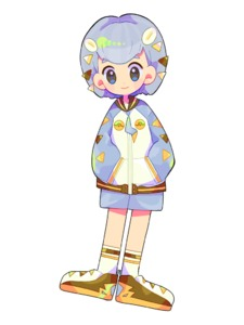 Rating: Safe Score: 0 Tags: 1girl black_eyes blue_eyes blush blush_stickers brown_footwear flat_chest full_body gen_7_pokemon grey_hair grey_jacket grey_shorts hair_ornament hairclip hands_in_pockets happy jacket long_sleeves looking_at_viewer mameeekueya multicolored_eyes multicoloured poke_ball_theme pokemon shoes short_hair short_shorts shorts simple_background smile socks solo standing togedemaru white_background white_legwear zipper_pull_tab User: DMSchmidt