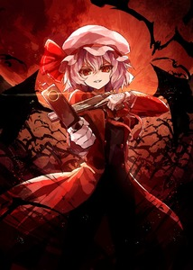 Rating: Safe Score: 0 Tags: 1girl alternate_costume alucard_(hellsing) bat bat_wings buttons coat dual_wielding full_moon gloves hat hat_ribbon hellsing k-me lavender_hair looking_at_viewer mob_cap moon outdoors pants parody red_eyes red_moon red_ribbon remilia_scarlet ribbon smile solo standing touhou_project white_gloves wings User: DMSchmidt