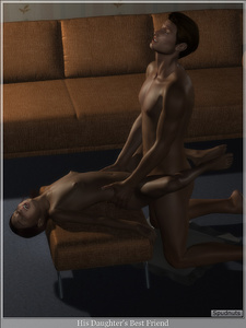 Rating: Explicit Score: 37 Tags: 1boy 1girl 3dcg age_difference artist_name barefoot between_legs breasts closed_eyes couch ecstasy hands_on_another's_hips happy_sex kneeling lying moaning nipples nude open_mouth photorealistic sex shadow small_breasts spudnuts teeth torso_grab vaginal User: Software