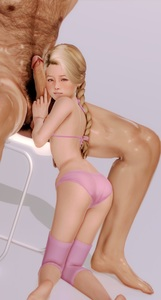 Rating: Explicit Score: 30 Tags: 1girl 3dcg age_difference ass barefoot blonde_hair braid chair earrings flat_chest holding_penis jewellery kneeling looking_at_viewer navel nipples penis penis_awe penis_on_face photorealistic pink_bikini pink_legwear ponytail pose pubic_hair sitting skoid testicles User: fantasy-lover