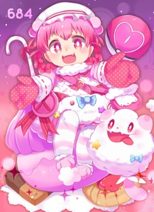Rating: Safe Score: 1 Tags: 1girl fang fuwasn1545 gloves highres long_hair looking_at_viewer open_mouth personification pink_eyes pink_hair pokemon pokemon_(creature) pokemon_(game) smile striped striped_legwear swirlix tongue tongue_out User: Domestic_Importer