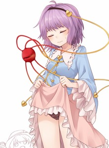 Rating: Safe Score: 4 Tags: 2girls ahoge bangs black_hairband black_panties blush breasts closed_eyes cowboy_shot frilled_shirt_collar frilled_sleeves frills hair_ornament hairband head_tilt heart heart_hair_ornament highres komeiji_koishi komeiji_satori lifted_by_self long_sleeves miyo_(ranthath) multiple_girls pantsu petticoat pink_skirt purple_hair short_hair siblings simple_background sisters skirt skirt_lift small_breasts solo_focus standing sweat thighs third_eye touhou_project underwear white_background wide_sleeves User: DMSchmidt