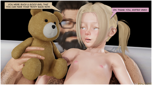 Rating: Explicit Score: 9 Tags: 1boy 1girl 3dcg after_sex age_difference blonde_hair blue_eyes english flat_chest glasses highres mia nipples photorealistic stuffed_animal stuffed_toy talking teddy_bear vinnyinnocent User: fantasy-lover