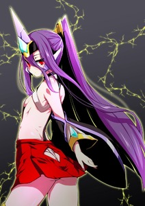 Rating: Safe Score: 0 Tags: 1girl arc_system_works ass ass_cutout bare_shoulders blazblue blazblue:_central_fiction blazblue:_chronophantasma breasts cowboy_shot detached_sleeves expressionless from_behind fundoshi grey_background hades_izanami headgear japanese_clothes kaname_nagi lightning loincloth long_hair looking_at_viewer looking_back mikado_(blazblue) miniskirt pantsu ponytail purple_hair red_eyes red_skirt revealing_clothes sideboob skirt small_breasts solo thighhighs underwear very_long_hair User: DMSchmidt