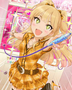 Rating: Safe Score: 0 Tags: + 10s 1girl :d artist_request bandai_namco belt blonde_hair eyelashes green_eyes idolmaster idolmaster_cinderella_girls jougasaki_rika long_hair official_art open_mouth smile sparkle User: DMSchmidt