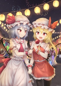 Rating: Safe Score: 0 Tags: 5girls :d apron artist_name ascot bangs bat_wings beret black_legwear blonde_hair blue_dress blue_hair blush bow breasts candy_apple cowboy_shot crystal dress eyebrows_visible_through_hair fangs fireworks flandre_scarlet food frilled_shirt_collar frills green_hat hair_between_eyes hat hat_bow hat_ribbon holding holding_food holding_hands hong_meiling izayoi_sakuya koakuma lantern long_hair looking_at_another maid maid_apron miniskirt minust mob_cap multiple_girls night night_sky one_side_up open_mouth orange_hair outdoors paper_lantern patchouli_knowledge petticoat purple_hair red_bow red_eyes red_neckwear red_ribbon red_skirt red_vest remilia_scarlet ribbon short_hair signature silver_hair skirt skirt_set sky small_breasts smile standing star_(sky) starry_sky thighhighs thighs touhou_project vest waist_apron white_apron white_dress white_hat wings wrist_cuffs yellow_neckwear zettai_ryouiki User: DMSchmidt