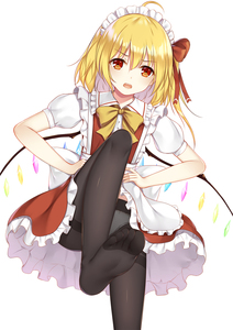 Rating: Safe Score: 3 Tags: 1girl :o ahoge alternate_costume black_legwear blonde_hair crystal enmaided eyebrows_visible_through_hair fang feet flan_(seeyouflan) flandre_scarlet hair_between_eyes hair_ribbon hands_on_hips headdress highres looking_at_viewer maid maid_headdress medium_hair no_shoes panties_under_pantyhose pantsu pantyhose puffy_short_sleeves puffy_sleeves red_eyes red_ribbon ribbon short_sleeves simple_background soles solo thighband_pantyhose toes touhou_project underwear white_background white_pantsu wings User: DMSchmidt