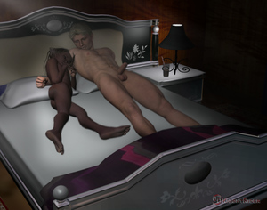 Rating: Explicit Score: 8 Tags: 1boy 1girl 3dcg age_difference ass barefoot bed black_hair closed_eyes flat_chest interracial knight_rider looking_at_partner navel nipples nude penis photorealistic pillow sleeping testicles User: fantasy-lover