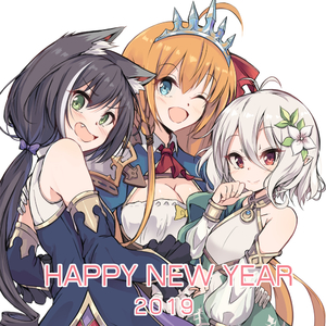 Rating: Safe Score: 0 Tags: 2019 3girls ;d ahoge animal_ear_fluff animal_ears antenna_hair ascot bangs bare_shoulders black_hair blue_dress blue_eyes blush braid breasts brown_hair cat_ears cleavage cleavage_cutout cowtits detached_sleeves dress eyebrows_visible_through_hair fang flower green_eyes hair_between_eyes hair_flower hair_ornament hair_ribbon hand_up happy_new_year head_tilt kokkoro_(princess_connect!) kyaru_(princess_connect) large_breasts long_sleeves multicoloured_hair multiple_girls nakatokung new_year one_eye_closed open_mouth pecorine princess_connect! princess_connect!_re:dive puffy_long_sleeves puffy_sleeves red_eyes red_neckwear red_ribbon ribbon short_hair side_braid silver_hair simple_background single_braid sleeveless sleeveless_dress sleeves_past_wrists small_breasts smile streaked_hair tiara white_background white_dress white_flower white_hair white_sleeves User: DMSchmidt