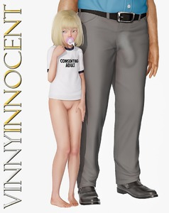 Rating: Explicit Score: 37 Tags: 1boy 1girl 3dcg age_difference bangs barefoot blonde_hair blue_eyes blunt_bangs bottomless english flat_chest hand_on_another's_head outline pacifier penis photorealistic pose pussy standing vinnyinnocent User: fantasy-lover