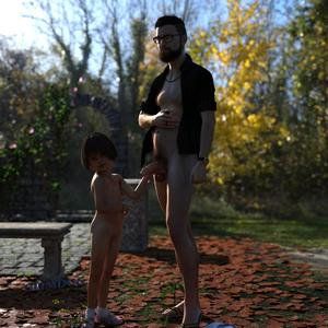 Rating: Explicit Score: 10 Tags: 1boy 1girl 3dcg age_difference ass black_hair flat_chest glasses looking_at_viewer navel necklace nipples nude penis penis_awe photorealistic pose pubic_hair ring shoes slimdog smile socks standing testicles watch User: fantasy-lover