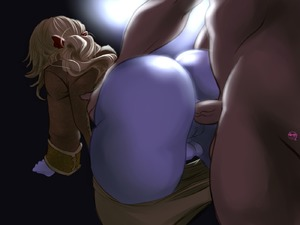 Rating: Explicit Score: 7 Tags: 1boy 1girl all_fours anal ass blonde_hair doggystyle enigma7 from_behind full-package_futanari futa_with_male futanari original pale_skin round_ass User: Enigma7