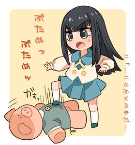 Rating: Safe Score: 0 Tags: 1girl kill_la_kill kiryuuin_satsuki open_mouth skirt solo stomping stuffed_animal stuffed_pig stuffed_toy tsumuri younger User: DMSchmidt