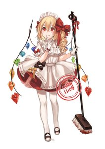Rating: Safe Score: 0 Tags: 1girl absurdres alternate_costume apron bangs black_bow blonde_hair blood blouse blush bow broom commission crystal drill_hair enmaided eyebrows_visible_through_hair flandre_scarlet full_body gloves grin hair_between_eyes hair_bow hands_up headdress highres holding holding_broom laevatein long_hair looking_up maid maid_apron maid_headdress no_hat no_headwear one_side_up pantyhose petticoat puffy_short_sleeves puffy_sleeves red_bow red_eyes red_skirt shan short_sleeves simple_background skirt slit_pupils smile solo standing touhou_project white_apron white_background white_blouse white_gloves white_legwear wings yellow_bow User: DMSchmidt
