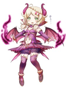 Rating: Safe Score: 1 Tags: 1girl :d ahoge anklet bangs bare_shoulders black_bloomers blonde_hair bloomers blush collar demon_girl demon_horns demon_wings detached_sleeves dot_nose dress eyebrows_visible_through_hair floating full_body gem green_eyes hair_tie hairband hayasaka_(neoneet) highres horns idolmaster idolmaster_cinderella_girls jewellery looking_at_viewer low_twintails low_wings magic medium_hair messy_hair navel navel_cutout no_pupils open_mouth outstretched_arm parted_bangs pleated_skirt popped_collar purple_dress purple_legwear sandals simple_background skirt sleeveless sleeveless_dress smile solo spaghetti_strap thighhighs twin_tails underwear white_background wings yusa_kozue User: DMSchmidt