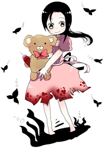 Rating: Safe Score: 1 Tags: 1girl bad_id bioshock black_hair dress fish little_sister monuko ponytail smile solo stuffed_animal stuffed_toy teddy_bear yellow_eyes User: DMSchmidt