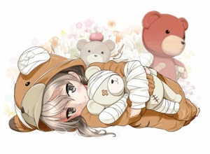 Rating: Safe Score: 1 Tags: 1girl actas animated bandages blinking boko_(girls_und_panzer) brown_eyes brown_hair cosplay excel_(shena) girls_und_panzer hug kigurumi long_hair looking_at_viewer lowres lying on_side shimada_arisu smile solo stuffed_animal stuffed_toy teddy_bear video webm User: DMSchmidt