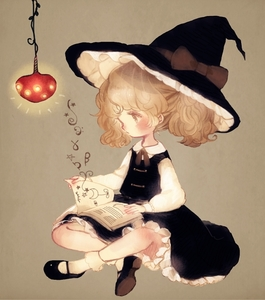 Rating: Safe Score: 0 Tags: 1girl ankle_socks blonde_hair book butterfly_sitting ceiling_light facing_away frilled_skirt frills half_updo hat hat_ribbon kirisame_marisa long_sleeves mary_janes open_book ponytail reading ribbon shoes simple_background sitting skirt skirt_set solo tan_background touhou_project witch_hat yellow_eyes younger yujup User: ShizKoE2