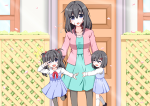 Rating: Safe Score: 2 Tags: +++ 3girls ;d black_hair black_legwear blue_eyes blush burn_scar closed_eyes day door dorei_to_no_seikatsu_~teaching_feeling~ hair_between_eyes hair_ornament hairclip mother_and_daughter multiple_girls older one_eye_closed open_mouth outdoors petals scar smile sylvie_(dorei_to_no_seikatsu) takahiko twin_tails v_over_eye User: DMSchmidt