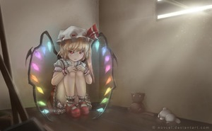 Rating: Safe Score: 0 Tags: 1girl blonde_hair bloomers crystal fang flandre_scarlet full_body glowing hat hat_ribbon looking_at_viewer looking_up mary_janes mob_cap novcel on_floor puffy_sleeves red_eyes ribbon shoes short_sleeves side_ponytail sitting skirt socks solo stuffed_animal stuffed_toy touhou_project underwear watermark web_address white_legwear wings wrist_cuffs User: Domestic_Importer