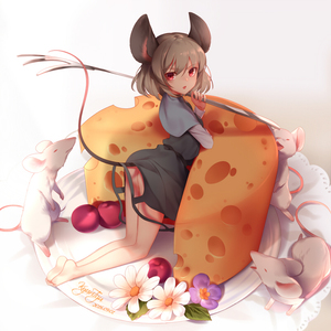 Rating: Safe Score: 0 Tags: 1girl animal_ears ass barefoot black_dress capelet cheese dress from_behind grey_hair jewellery kneeling kyuri_tizu looking_at_viewer mouse mouse_ears mouse_tail nazrin open_mouth oversized_object pendant red_eyes serious short_dress tail thighs touhou_project User: DMSchmidt