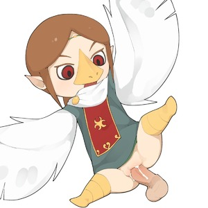 Rating: Explicit Score: 2 Tags: 1girl bangs beak brown_hair cum cumdrip disembodied_penis flat_chest flying hetero highres medli monster_girl nopan penis pussy red_eyes rito sex simple_background spread_legs the_legend_of_zelda the_legend_of_zelda:_the_wind_waker uncensored vaginal white_background wings youjo_modoki User: DMSchmidt