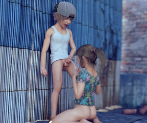 Rating: Explicit Score: 51 Tags: 1boy 1girl 3dcg ass bare_arms bare_shoulders blonde_hair bottomless braid brother_and_sister child_on_child cum ejaculation floral_print hat hetero imminent_fellatio incest kneeling legs_apart looking_down nopan open_mouth penis photorealistic ponytail sabine_heinrich shirt short_sleeves shota siblings standing straight_shota User: Domestic_Importer
