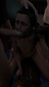 Rating: Explicit Score: 18 Tags: 1girl 3boys 3dcg age_difference barefoot collar cosmicnoctis cowgirl_position fellatio flat_chest hair_ribbon hand_on_another's_head holding_penis interracial kneeling multiple_boys natalia_korda navel nipples nude oral penis photorealistic ribbon sitting_on_face testicles User: fantasy-lover