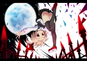 Rating: Safe Score: 0 Tags: 1girl :o ass black_legwear blonde_hair broken_glass fence full_moon glass hair_ribbon letterboxed mary_janes mondo moon night outstretched_arm red_eyes ribbon rumia shoes short_hair solo spread_arms sumisu_(mondo) team_shanghai_alice thighhighs touhou_project upside-down User: DMSchmidt