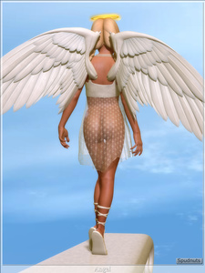 Rating: Questionable Score: 0 Tags: 1girl 3d_custom_girl 3dcg angel angel_wings artist_name ass blonde_hair braid cloud from_behind long_hair original photorealistic sandals see-through sky solo spudnuts thigh_gap tied_hair transparent_clothes twin_braids User: Software